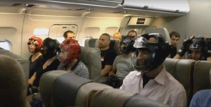 IMAGE: Passengers on a United Airlines flight today