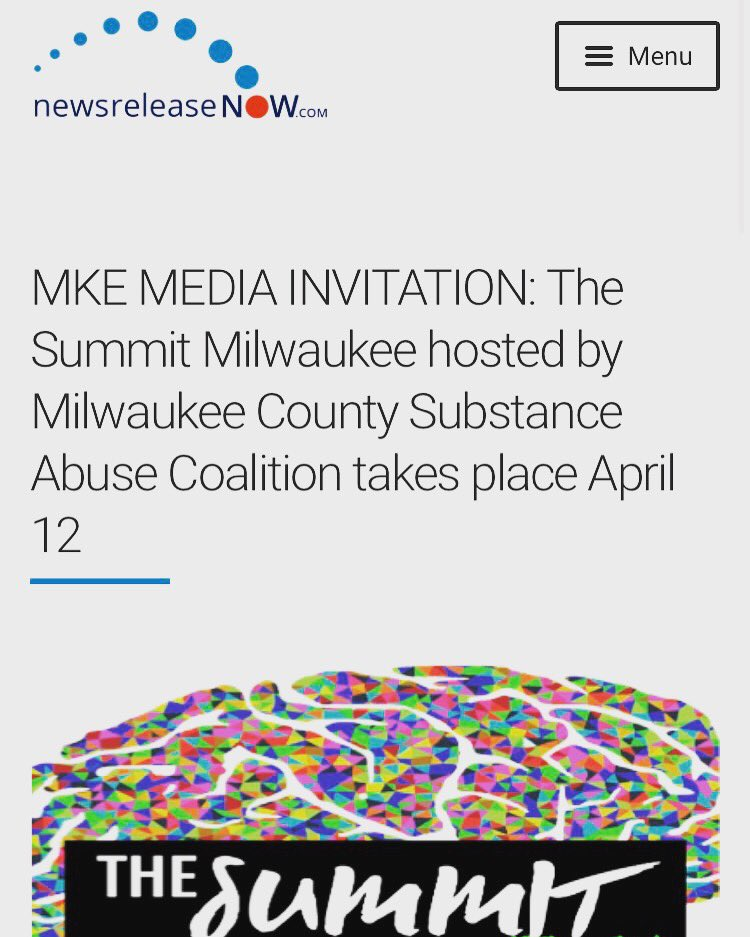 #MKENews:We secured great local media coverage 4 The Summit Milwaukee hosted by #MKE County Substance Abuse Coalition today! #thesummit2017pic.twitter.com/b1Dg90Ihgk