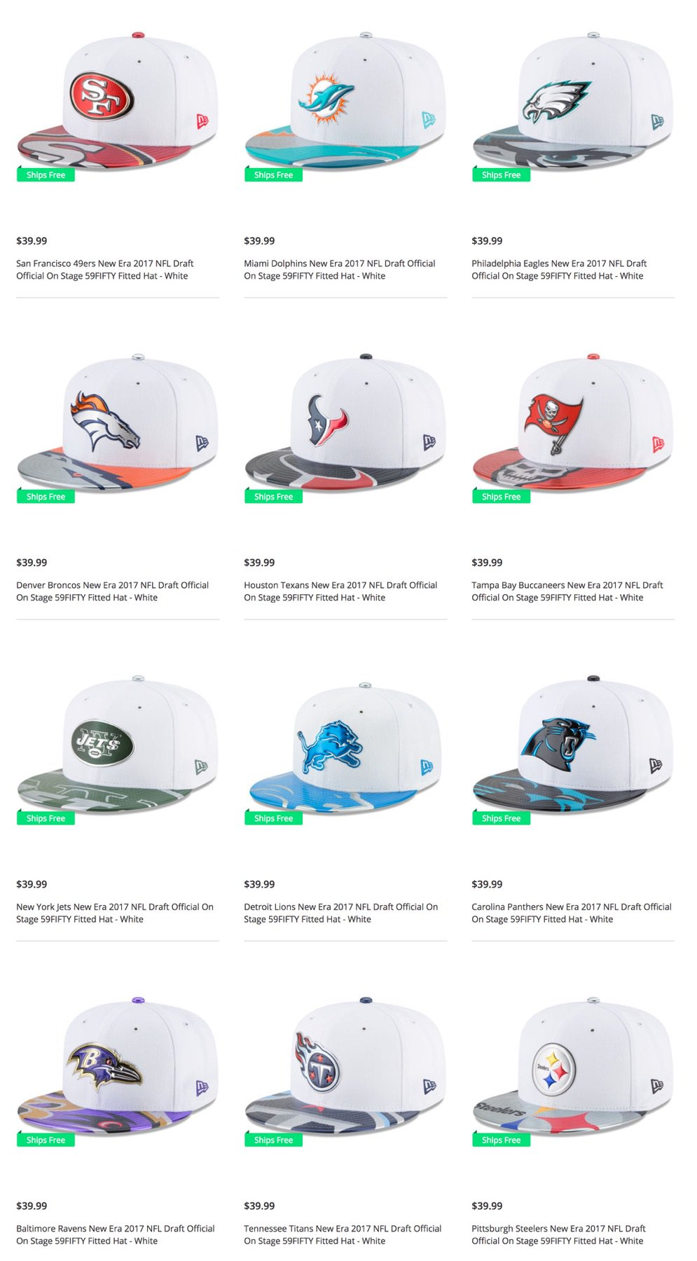 3cf43b1d3 ... new era white orange front n center low profile 59fifty fitted hat  cheap j23 iphone app on twitter official 2017 nfl draft hats just dropped.  use code ...