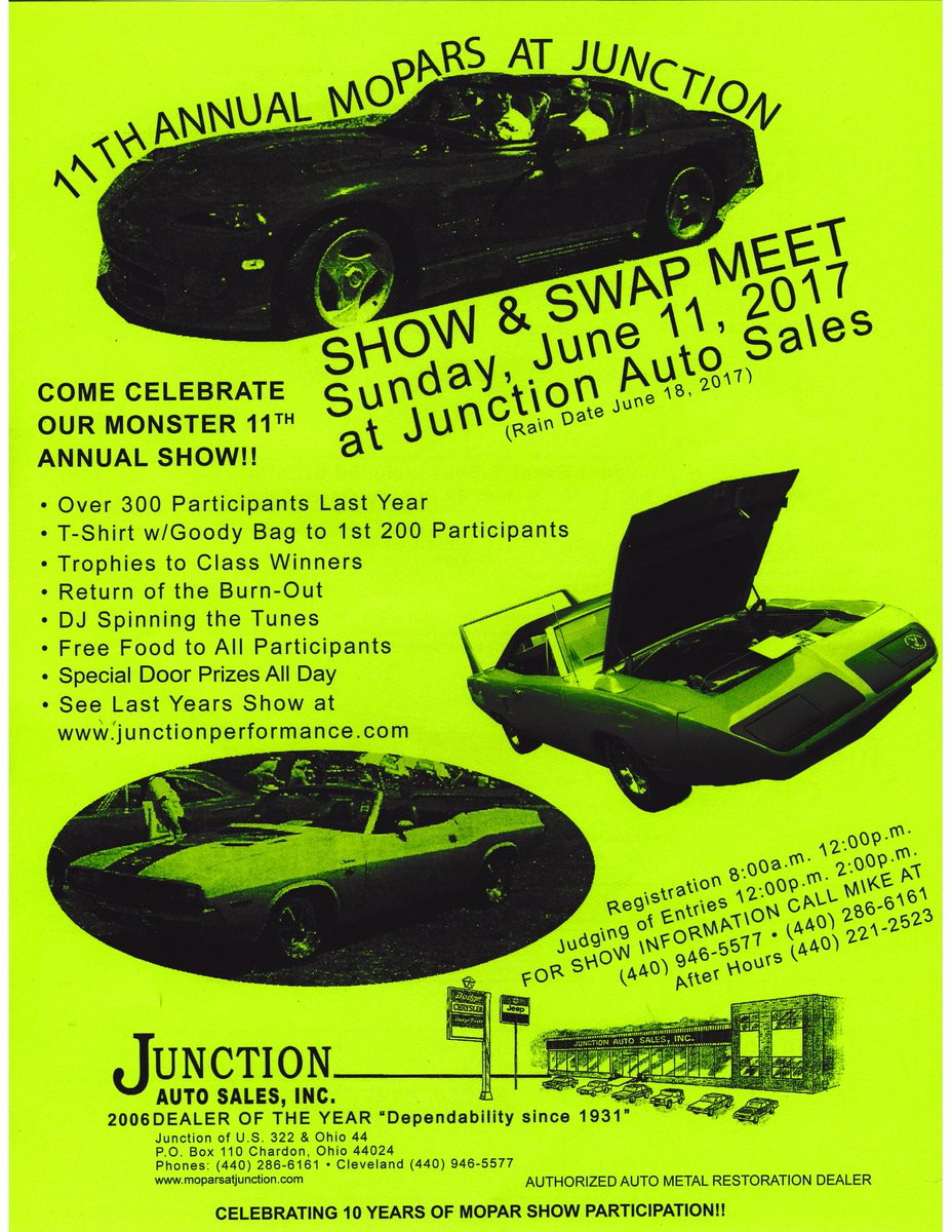Junction Auto Sales >> Mid Ohio Mopars On Twitter Junction Auto Chrysler In