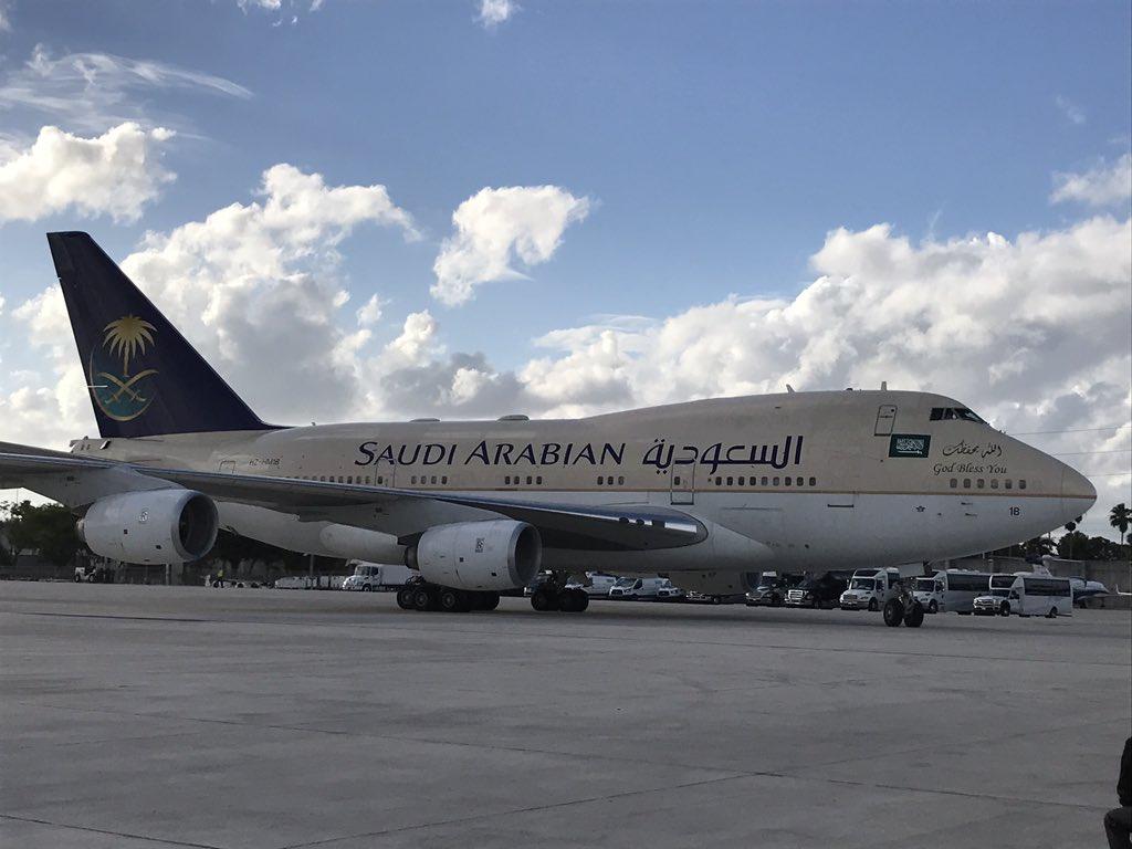 ملك المغرب يصل أمريكا على متن طائرة سعودية C9QrMVoXoAAdUYO