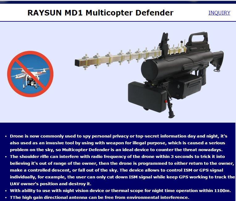 العراق يمتلك مضاد الدرون التايواني  RAYSUN MD1  C9Qs_u8VwAAXn9j