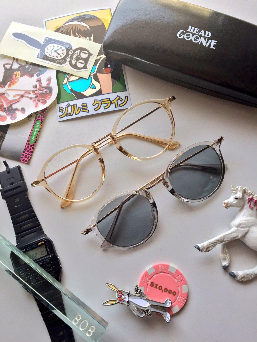 ヘッドグーニーの展示会でマクフライモデルのメガネ