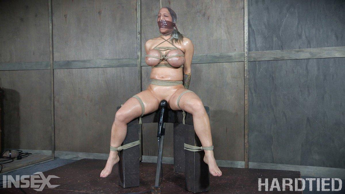 Hard rope bondage and orgasm torture