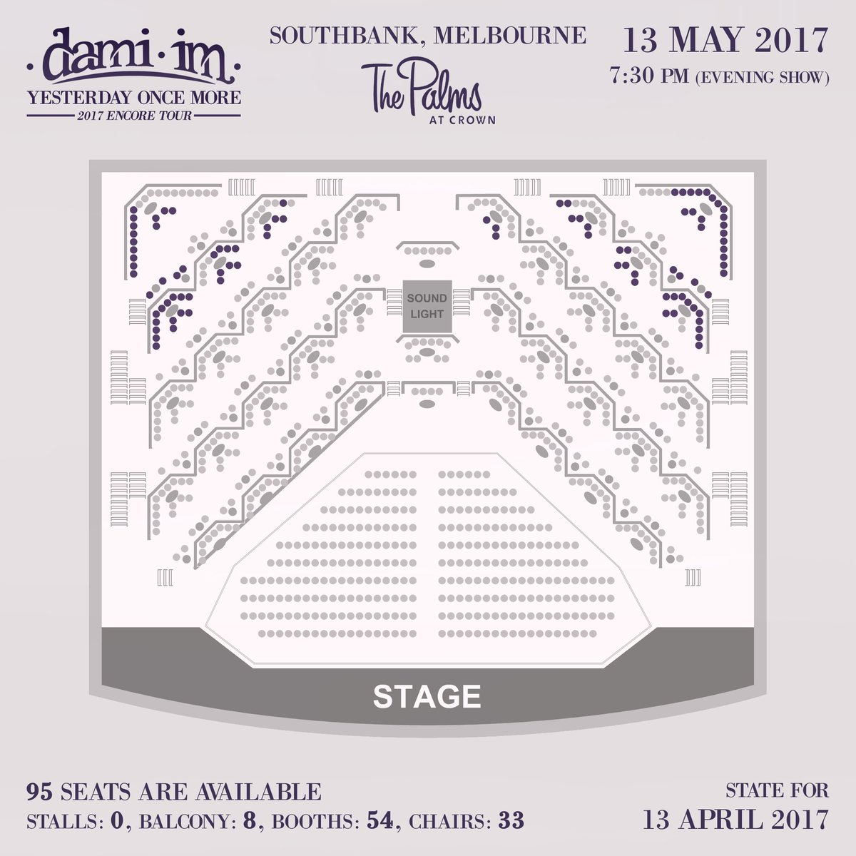 Palms At Crown Seating Map