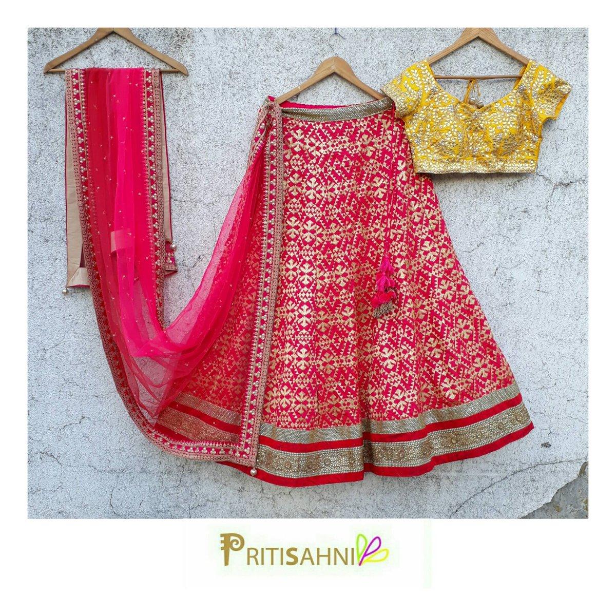 PRITISAHNI DESIGNS. Preti by Priti Sahni.  Whatsapp : +91-9022 617 481.