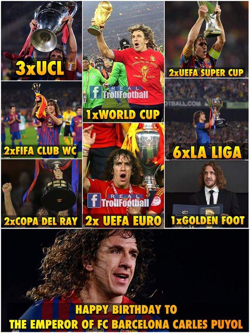 Happy Birthday to one of the Greatest Football Captain Carles Puyol!