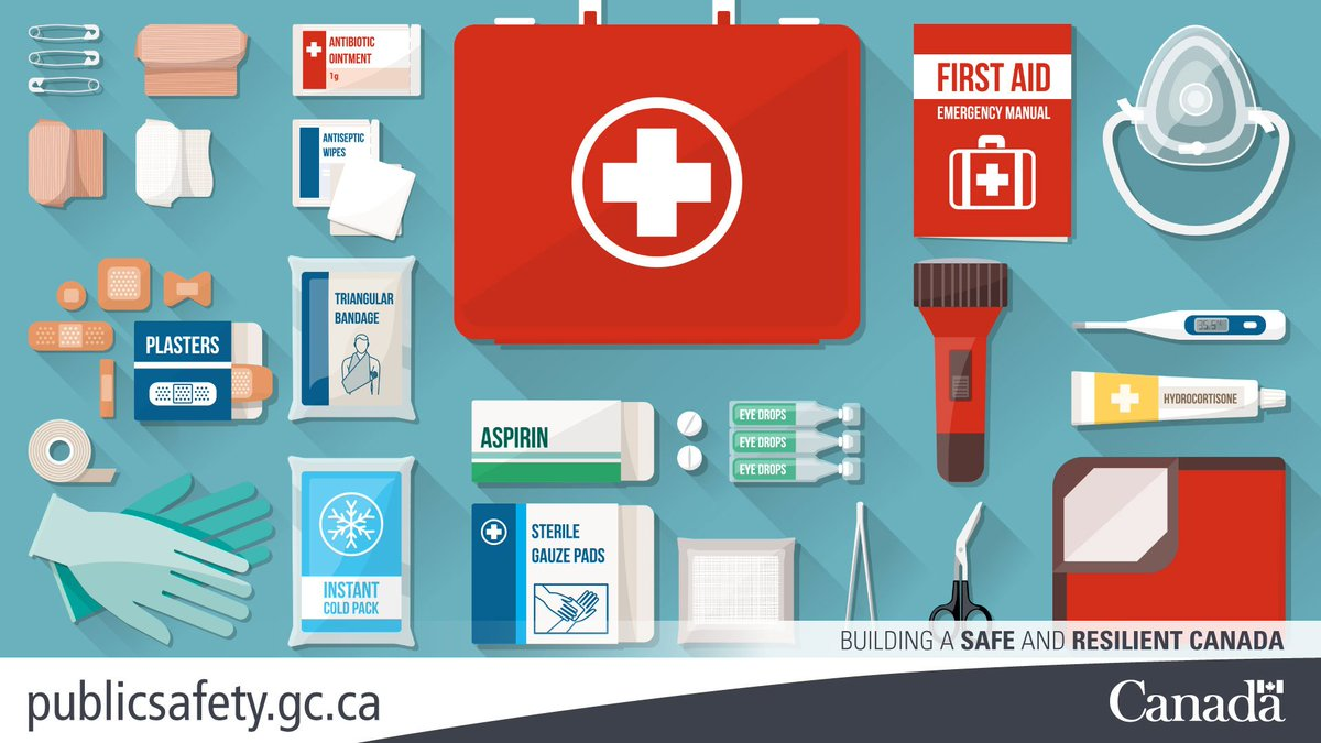 """Public Safety Canada on Twitter: """"A first aid kit goes great w/ur emergency  kit. You never know when you'll need it. What's in your #emergencykit?… """""""