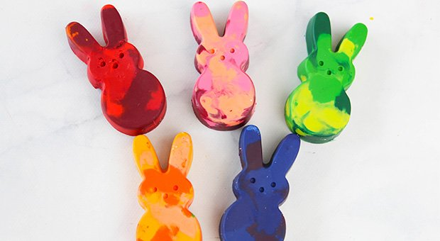 Easy DIY Bunny Crayons with Broken Bits