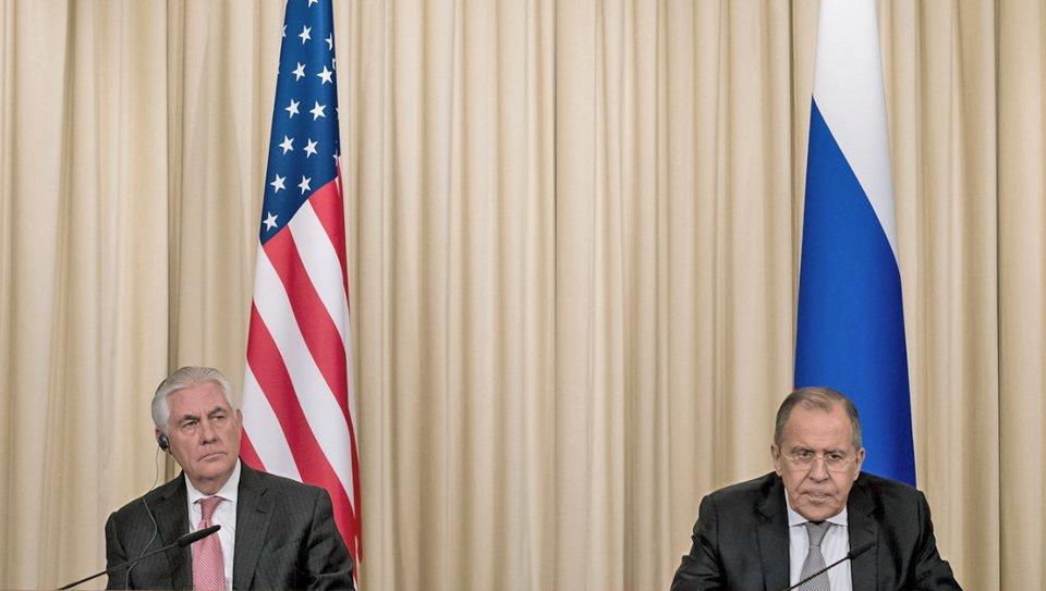 Thumbnail for Lavrov - Rex Tillerson meeting in Moscow   Встреча С.Лаврова и Госсекретаря США Р.Тиллерсона