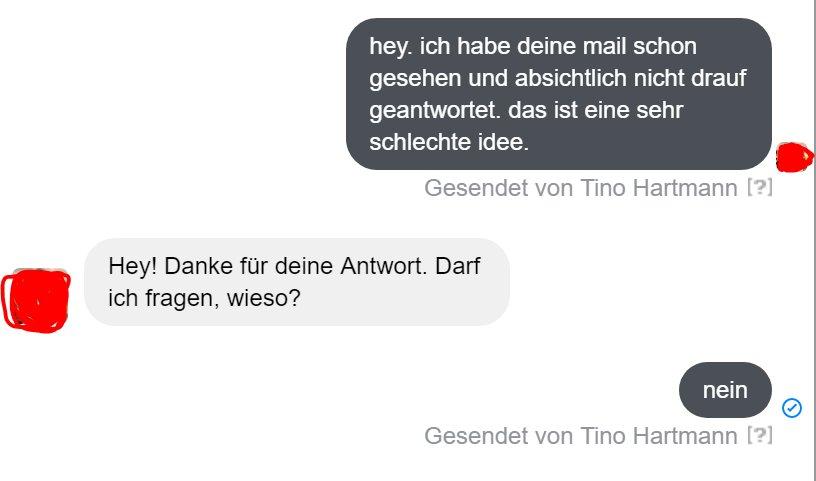 Unterhaltung Auf Facebook Tino Hey Ich Habe Deine Mail Schon Gesehen Und