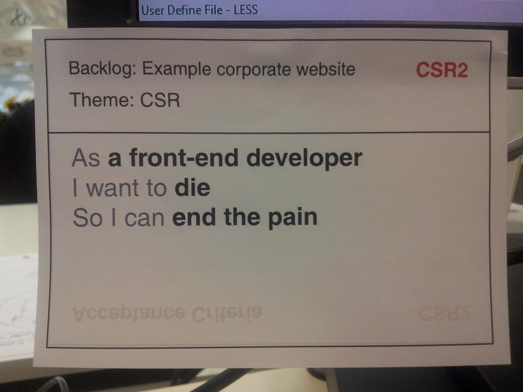 Learned about story cards today in Software Engineering.... https://t.co/O8b6Kzfe2y