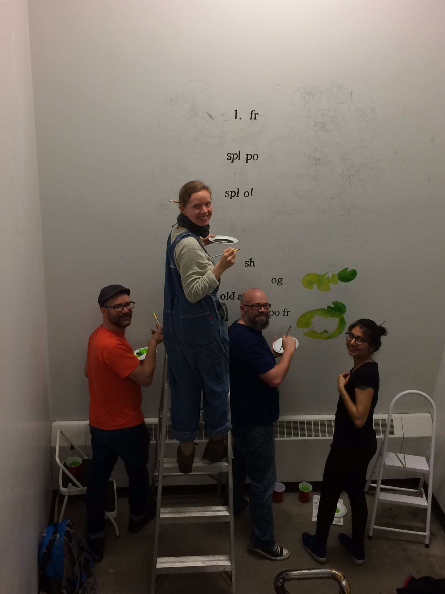 """Not only are we restoring Leon but we""""re adding a new mural. Can't wait for finished masterpiece. @UCalgary_Arts #LeonLives #yycarts https://t.co/Z4Q9sMGD3k"""