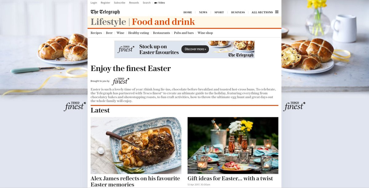 Telegraph spark on twitter weve partnered with tesco finest to create an ultimate guide to easter negle