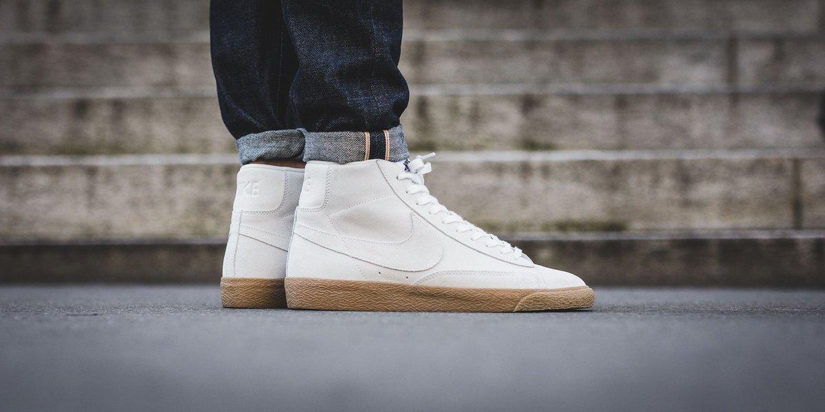 Nike Blazer Mid Premium - Off White/Off White-Gum Light Brown SHOP HERE:  https://t.co/FIrXvSMQdR…