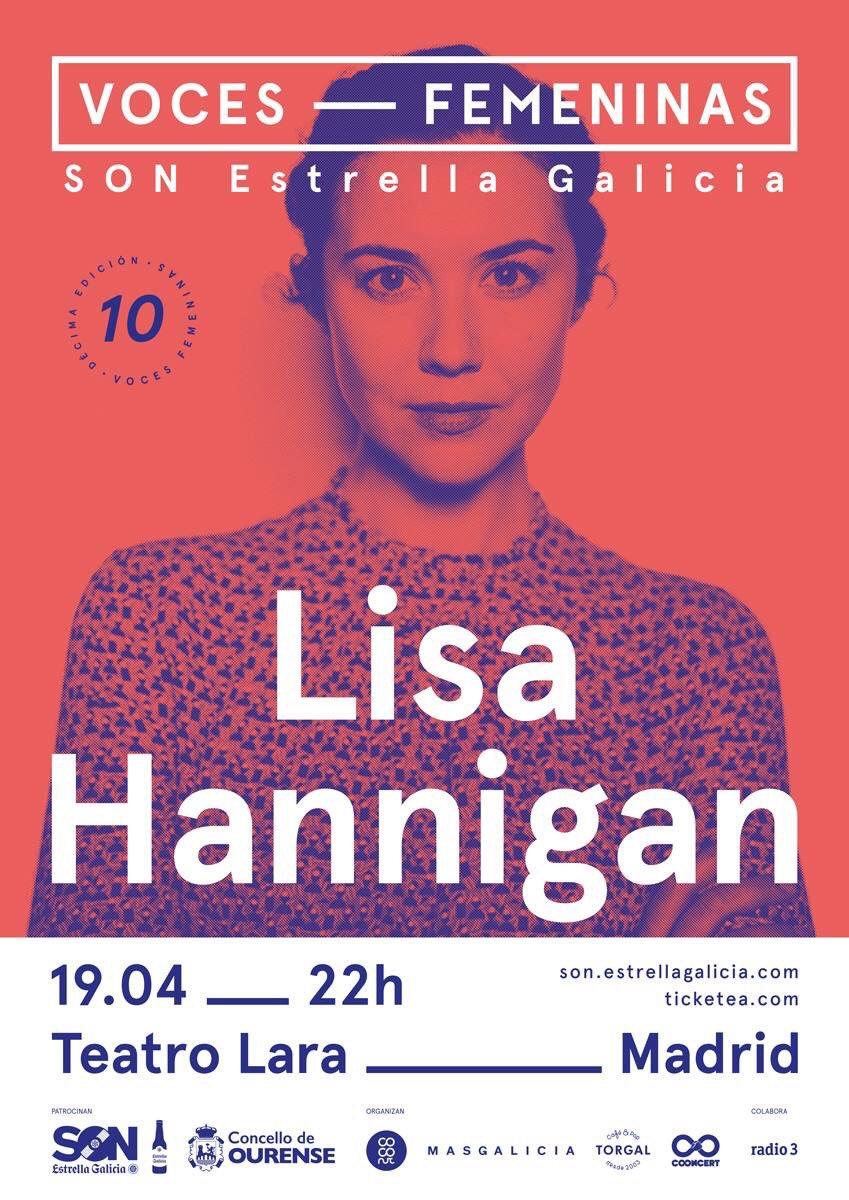 #TeInvitamos ¿Quieres 1 entrada doble para @LisaHannigan y @Saint_Sister_ en el @teatrolara? Sigue a @madridandmusic y @VocesFemeninas + RT.
