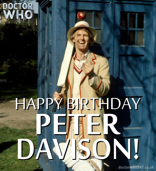 Anyone for cricket? Wishing a happy birthday to Peter Davison, the brilliant Fifth Doctor!