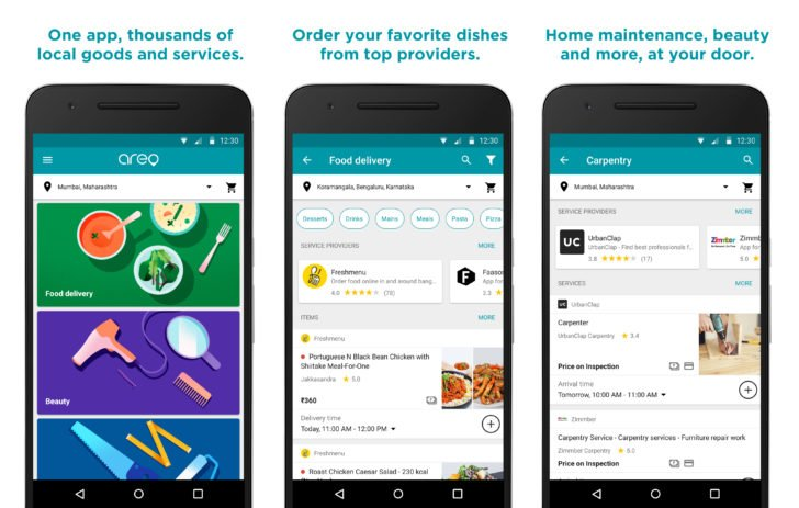 aero google launches food delivery app in india baaz