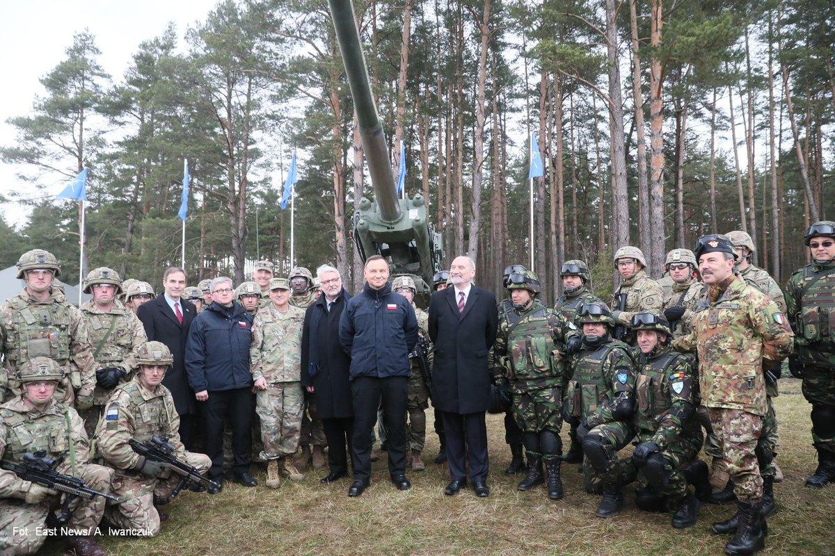 FM Waszczykowski welcome US-led @BG_Poland_eFP to Orzysz
