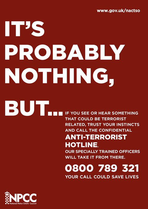 If you see anything suspicious don't take a chance #WeStandTogether https://t.co/m1Xfy9QRMx