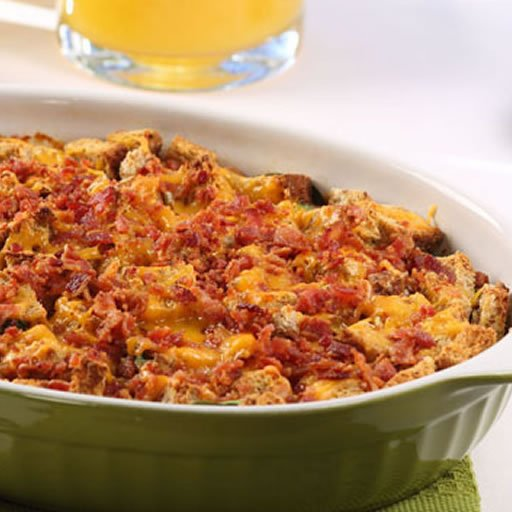 Bacon Spinach Strata