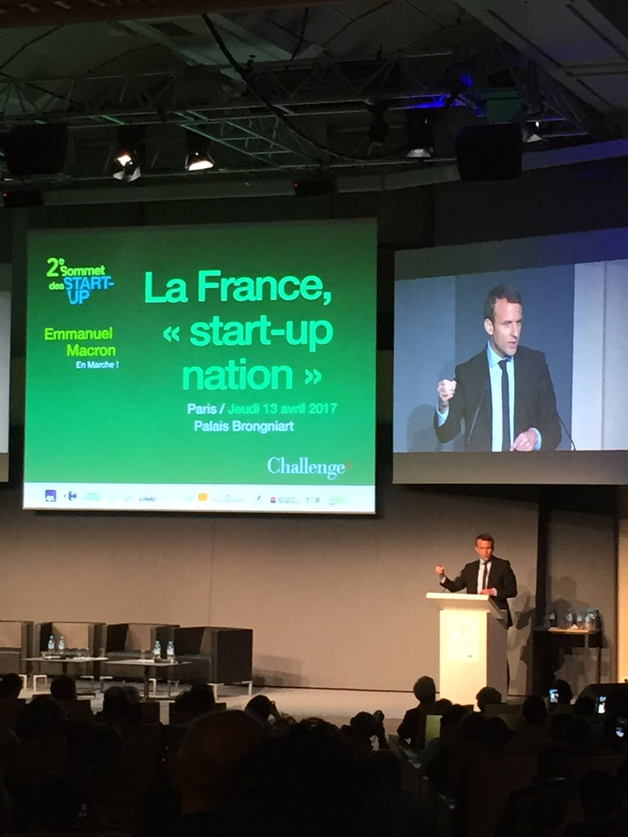 La France start-up nation #transformation #innovation #fierte #croissance @EmmanuelMacron @Challenges @ECOSYSGroup @cleantechopenFR<br>http://pic.twitter.com/k7NbaMkE3Y