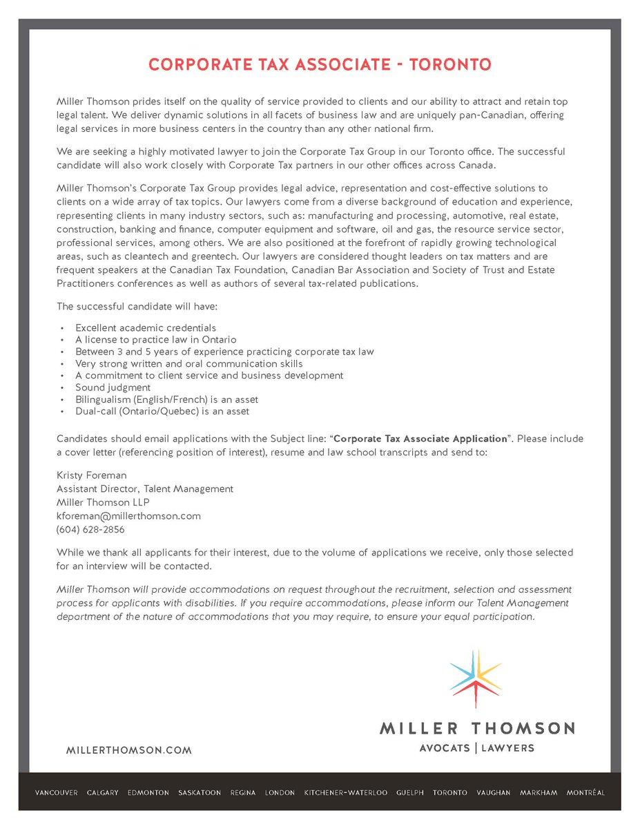 Cover Letter Tax Associate