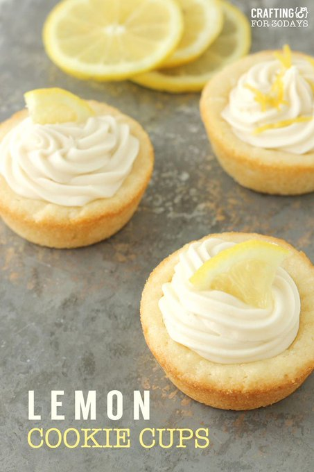 Lemon Cookie Cups