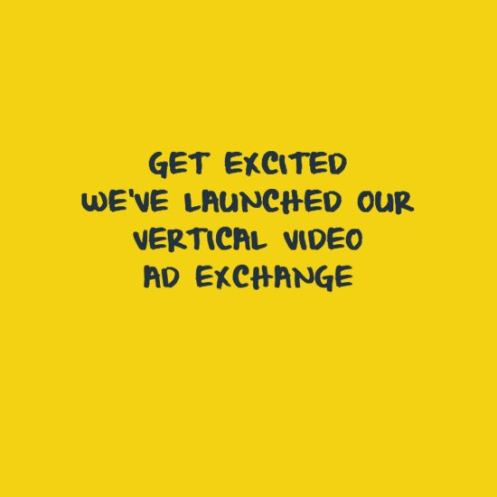 Get excited! We've launched our #VerticalVideo Ad Exchange https://t.co/zMcsspHEve @portada_online https://t.co/o1vI6Azu6o