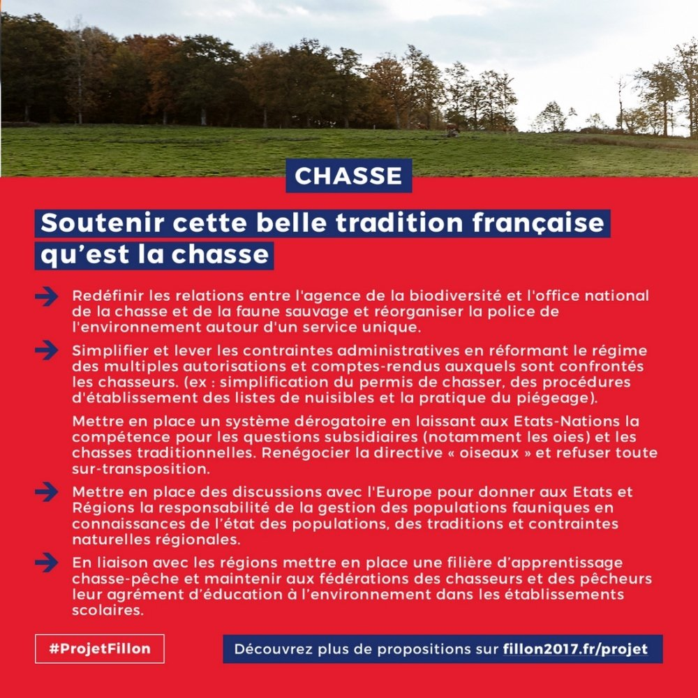 La chasse #ProjetFillon #Ruralité #Chasse<br>http://pic.twitter.com/dvVaaCYEWe
