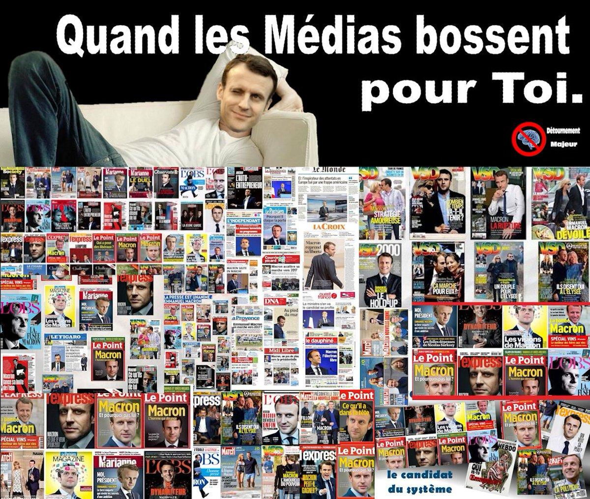 #macron , quand les médias bossent pour toi. #Presidentielle2017 #BFMTV