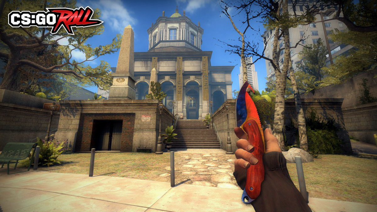 csgoroll on twitter giving away a gut knife marble fade fn