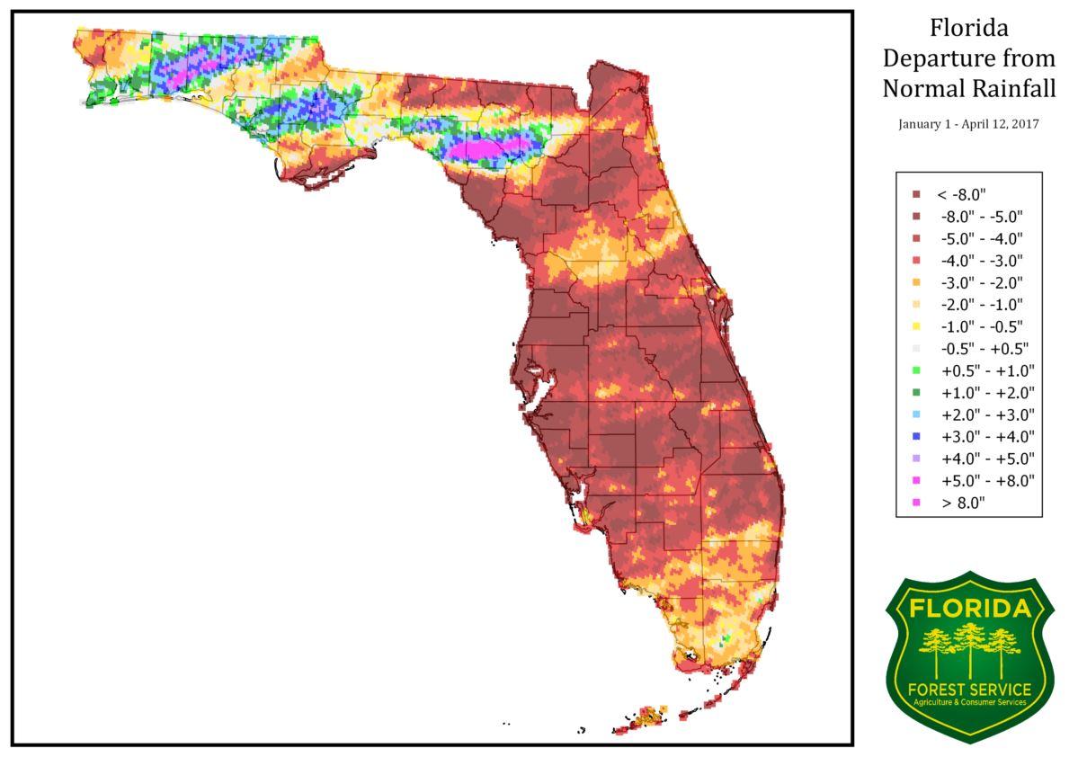 Florida Rainfall Map.Ffs Jacksonville On Twitter Florida Departure From Normal Rainfall