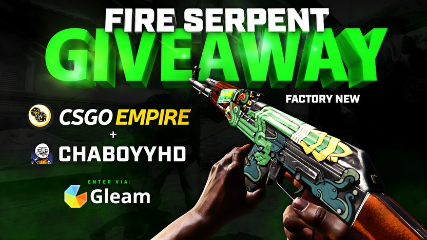 csgoempire on twitter stattrak ak 47 fire serpent factory new
