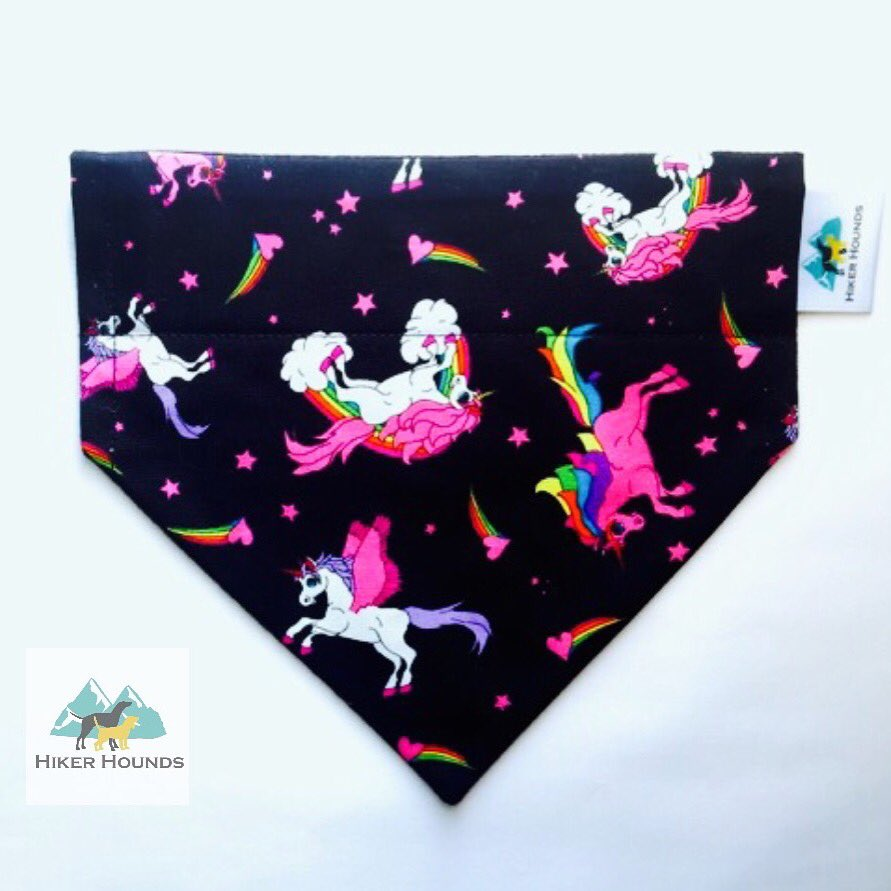 Dogs dream of unicorns too... 🦄 #Stylishpup #unicorns #dogbandana #nidogs #shoplocal #dogwalker #handmade