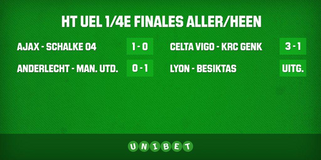 HT #UEL!    Het ziet er niet goed uit voor onze  teams..  #RSCA - #MUFC #CEL - #Genk  #ANDMUFC #ANDMUN #CELGNK<br>http://pic.twitter.com/jzuSXVC9En