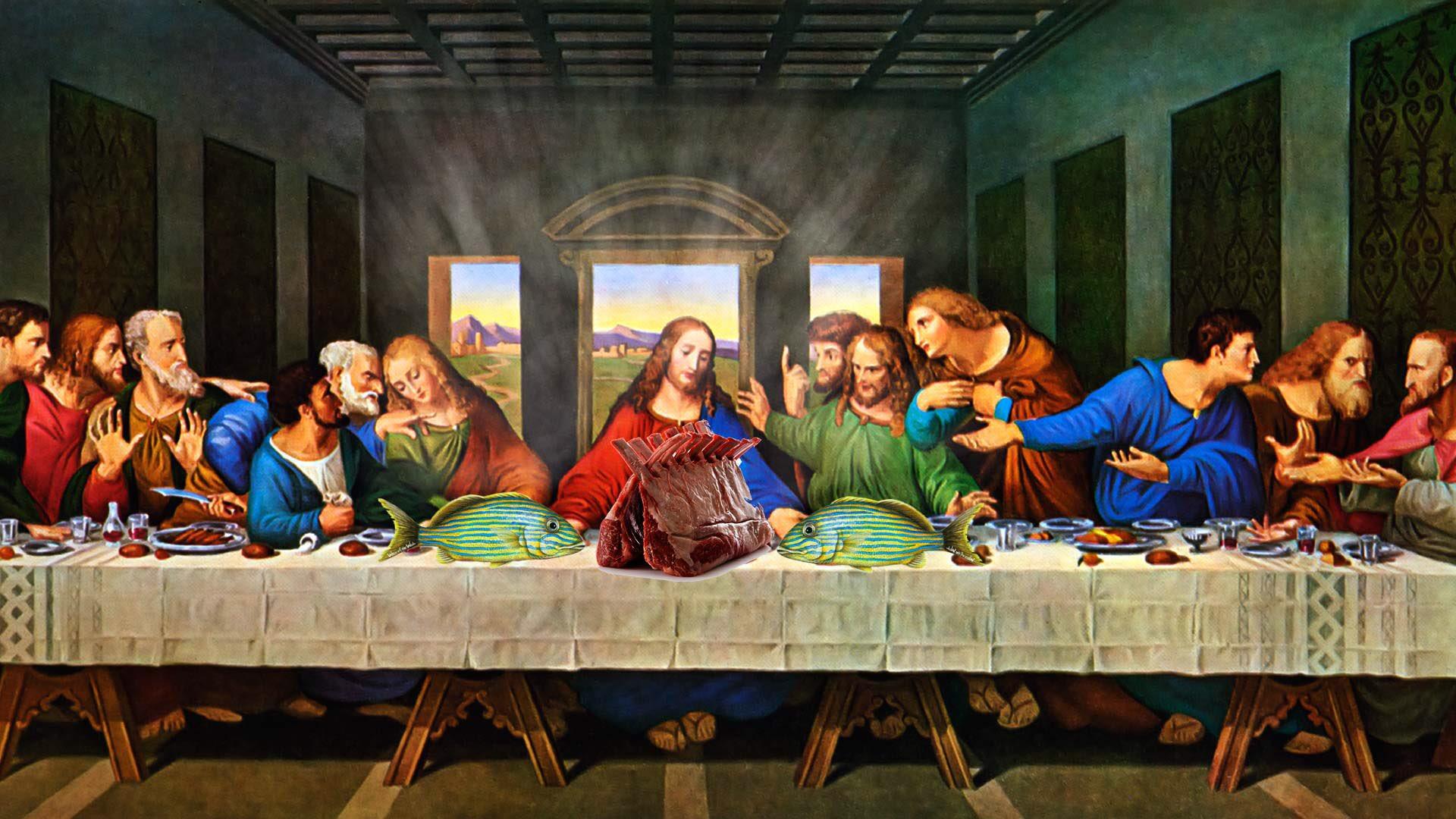 тайная вечеря пустой стол фото крепкая толстая доска