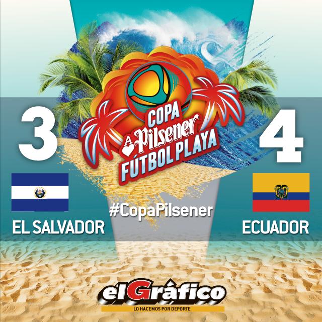 Copa Pilsener 2017: El Salvador 3 Ecuador 4. C9VGHIGWsAAB6c6
