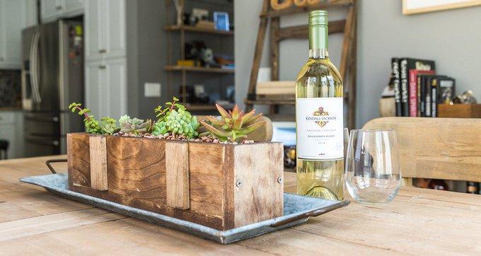 DIY Wood Succulent Planter