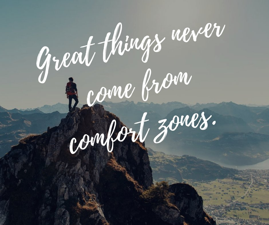 Great things never come from comfort zones. #entrepreneur https://t.co/E9fBlwX8CD