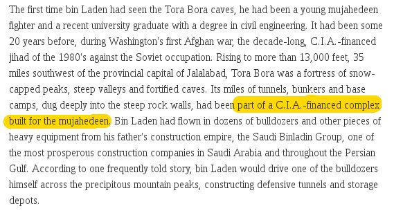 Those tunnels the U.S is bombing in Afghanistan? They were built by the CIA https://t.co/u66ScoiNpX (via @GabiElenaDohm)