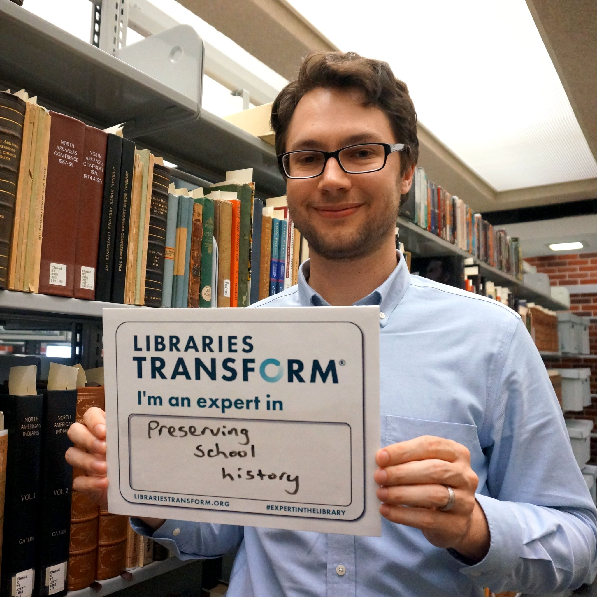 Ken works in our special collections! He's an expert at preserving the #Reddie story! #expertinthelibrary #NationalLibraryWeek https://t.co/AwkC1YbflM