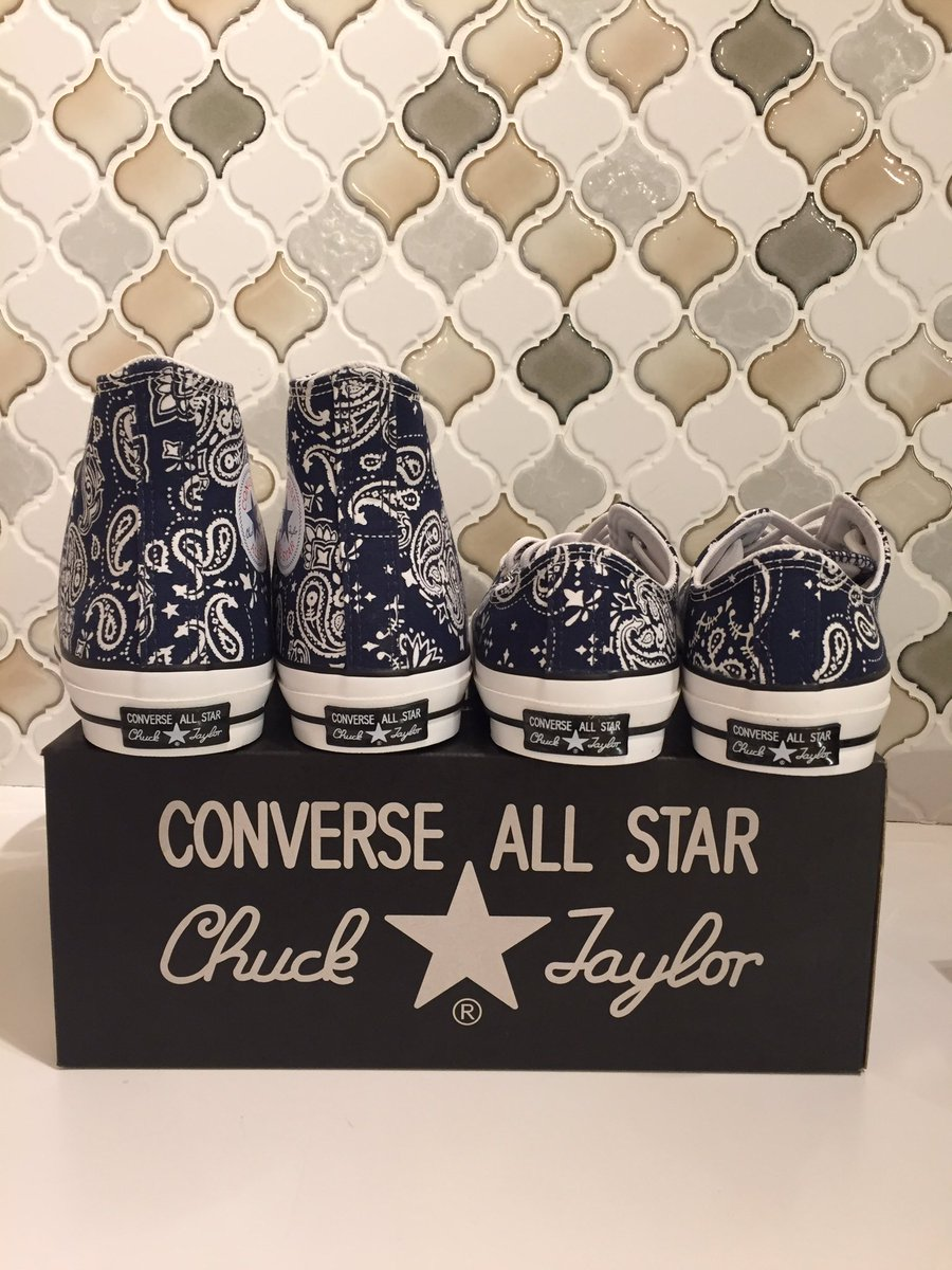 878c3976c6e929 CONVERSE ALL STAR 100 BANDANA HI 1CK749 NAVY ALL STAR 100 BANDANA OX 1CK751  NAVY ¥8