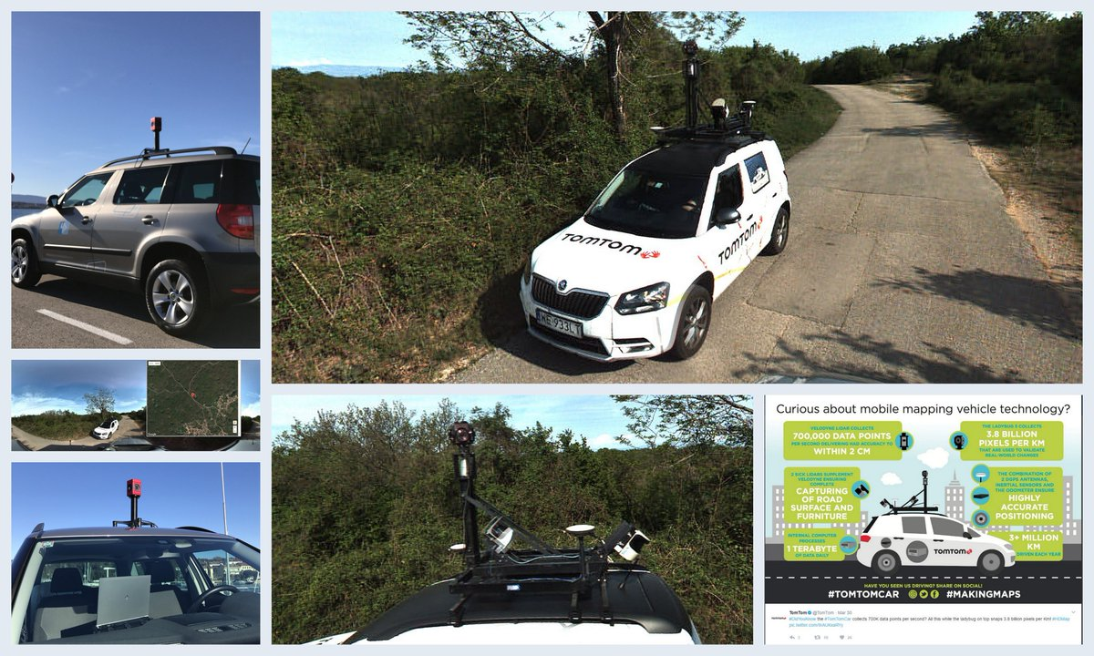 While we were capturing data for a mobile mapping project, we passed by #tomtomcar yesterday. They have seriously impressive equipment.