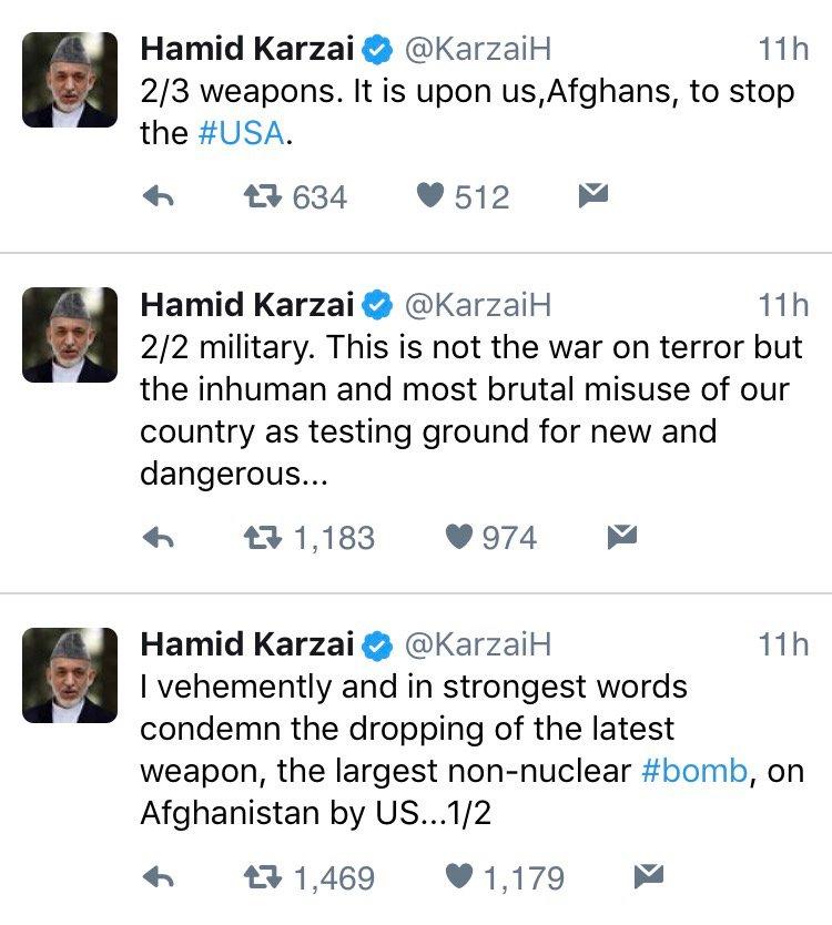 Former president of Afghanistan: https://t.co/dpZ5EZorVC