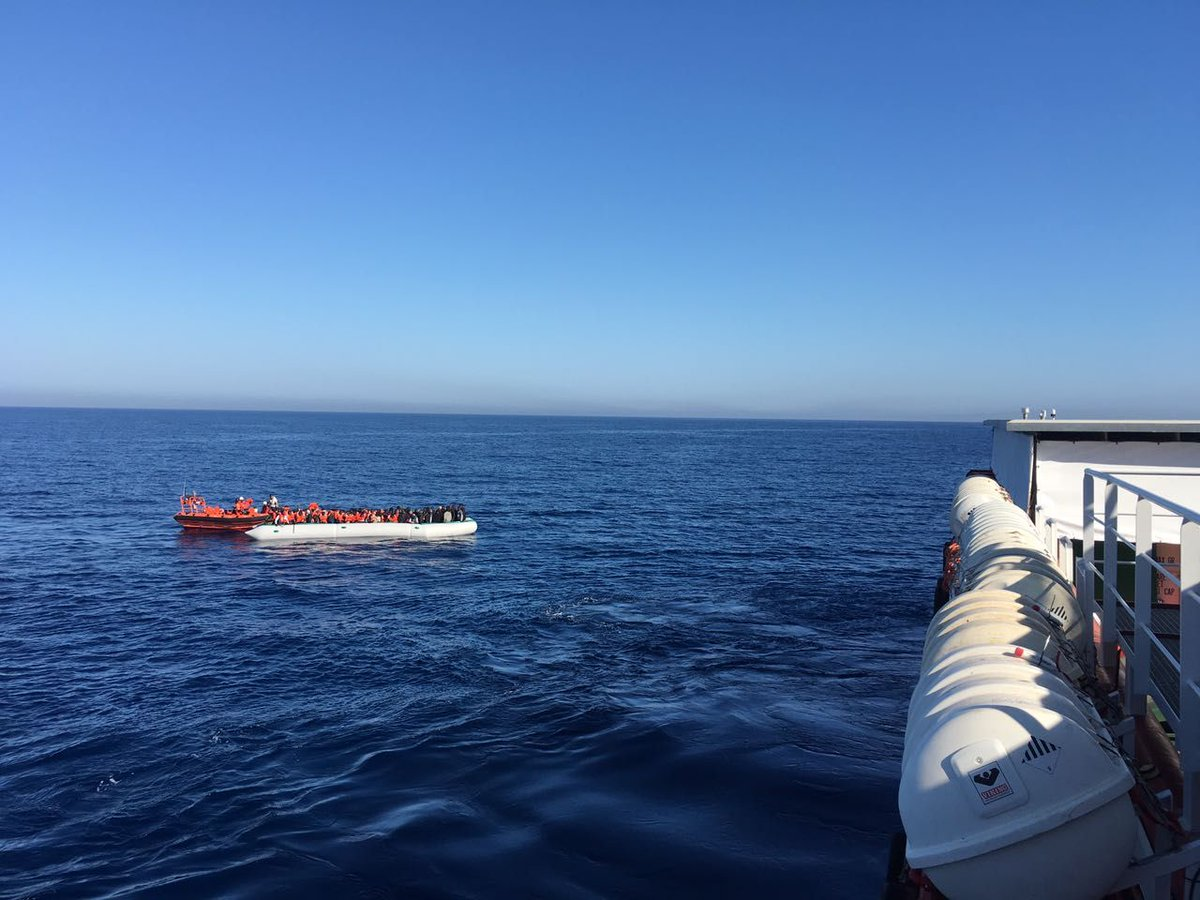 The Prudence has rescued 147 people from a second crappy rubber boat. They're all safe and recuperating on board.