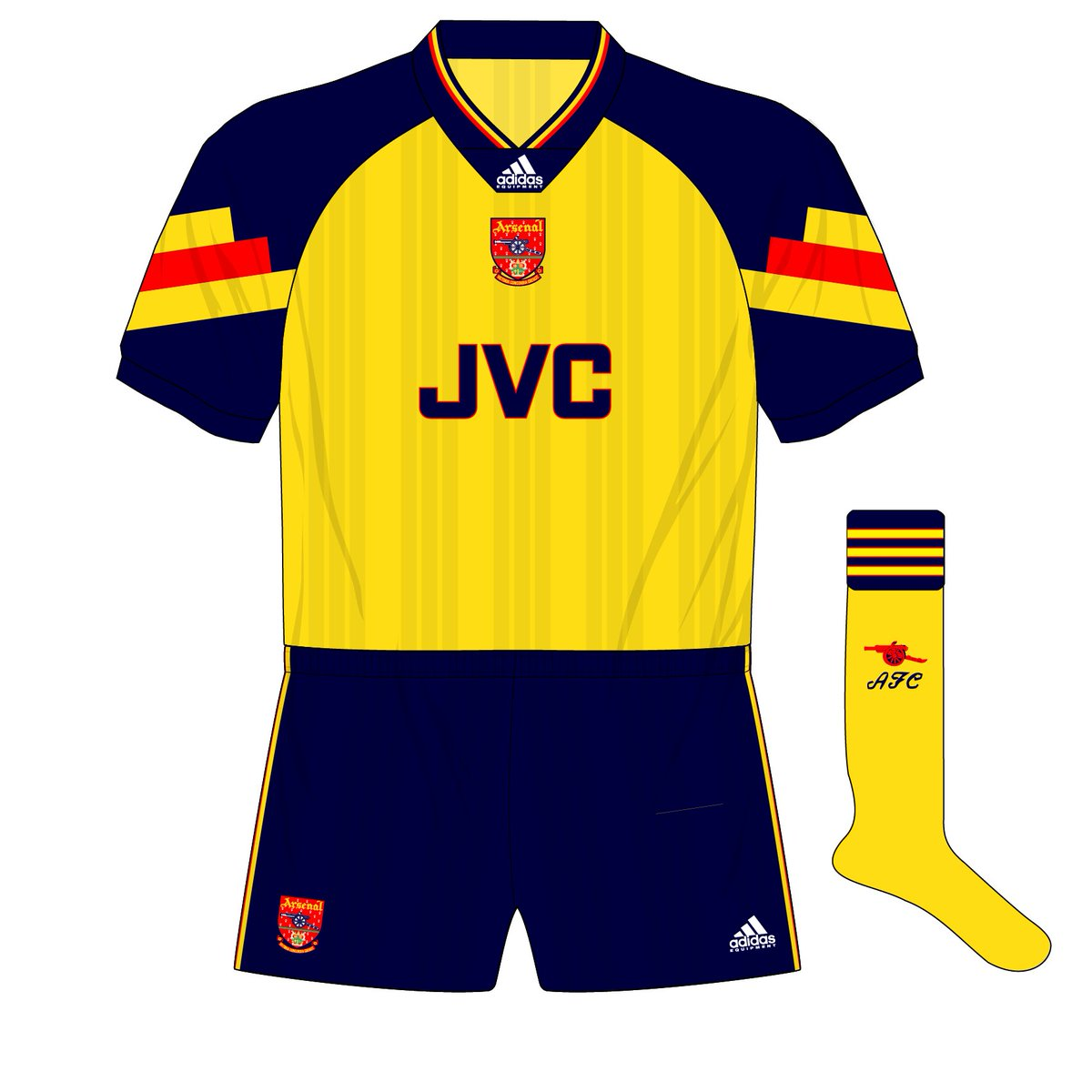 ab8f875d1ec Today s  fantasykitfriday was requested by  OwenAmos - an away version of  the the 1992-94 Arsenal home kitpic.twitter.com bceOufJNlh