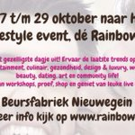 27,28&29 oktober: The biggest gay lifestyle event! | Beursfabriek in Nieuwegein @RainbowExpo_NL | https://t.co/IZFFMk9i7f