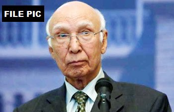 Why would an innocent person possess 2 passports, one with Hindu and other a Muslim name?: Sartaz Aziz, Adviser to Pakistan PM on Foreign Affairs