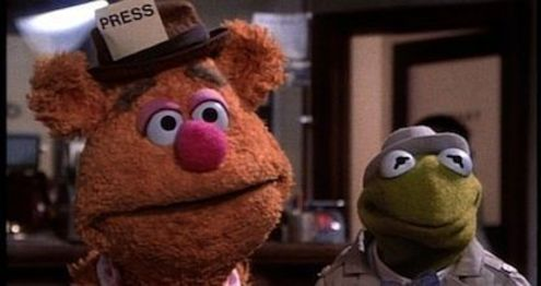 Up next at 12.55pm, Kermit and Fozzie Bear are reporters heading to London to investigate a diamond theft in The Great Muppet Caper.